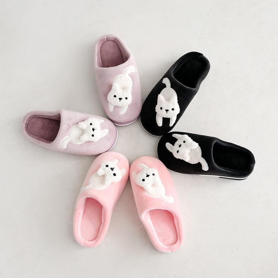 Cat fur slippers 3 cm