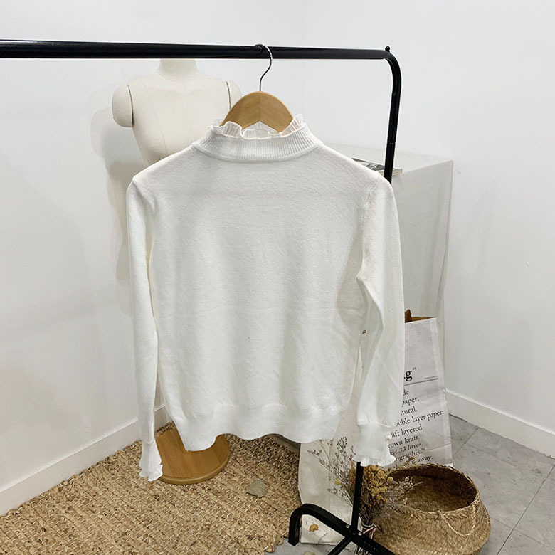 Els pearl pleated lace t-shirt