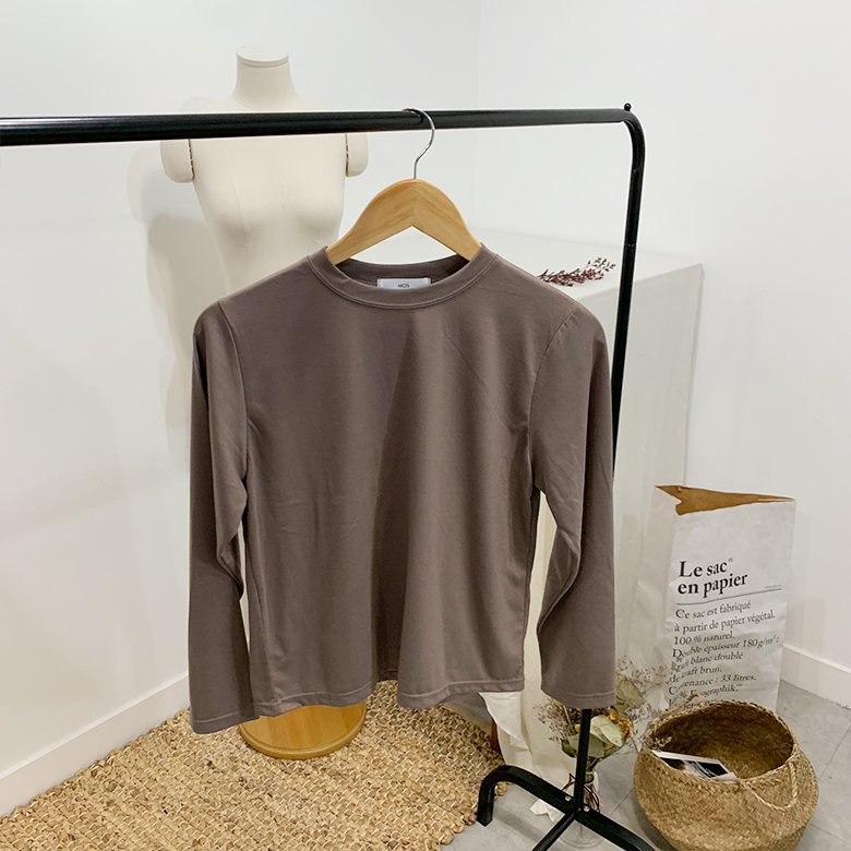 Moss Daily solid round T-shirt