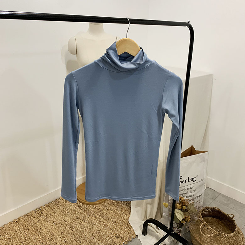 Meldy span high neck polar t-shirt