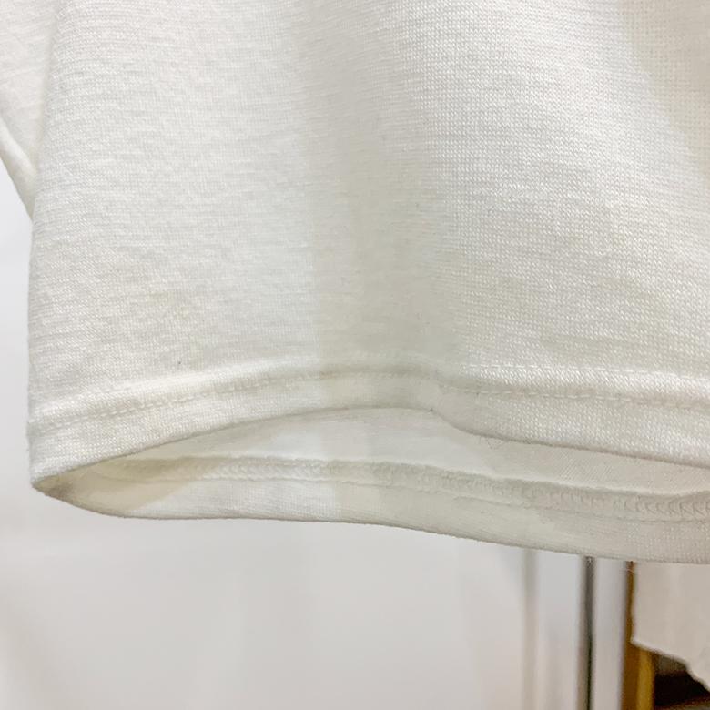 Porcelain Yunek crop T-shirt