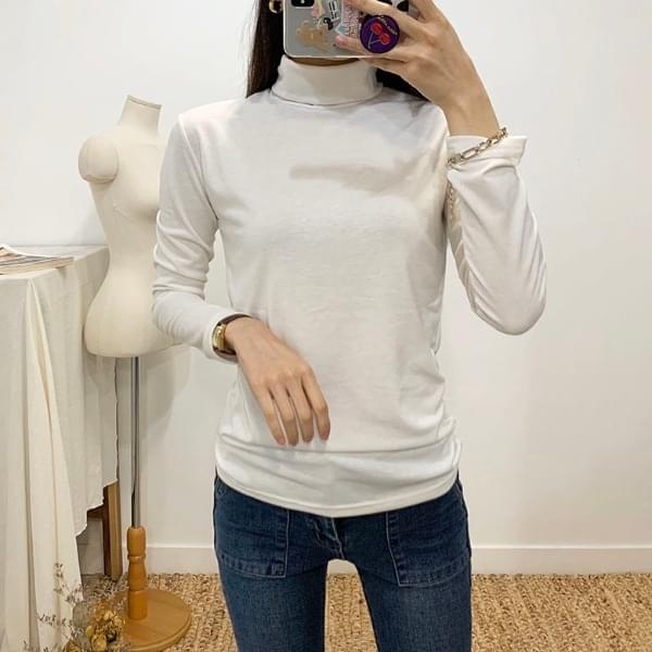 Perfect brushed high neck polar t-shirt