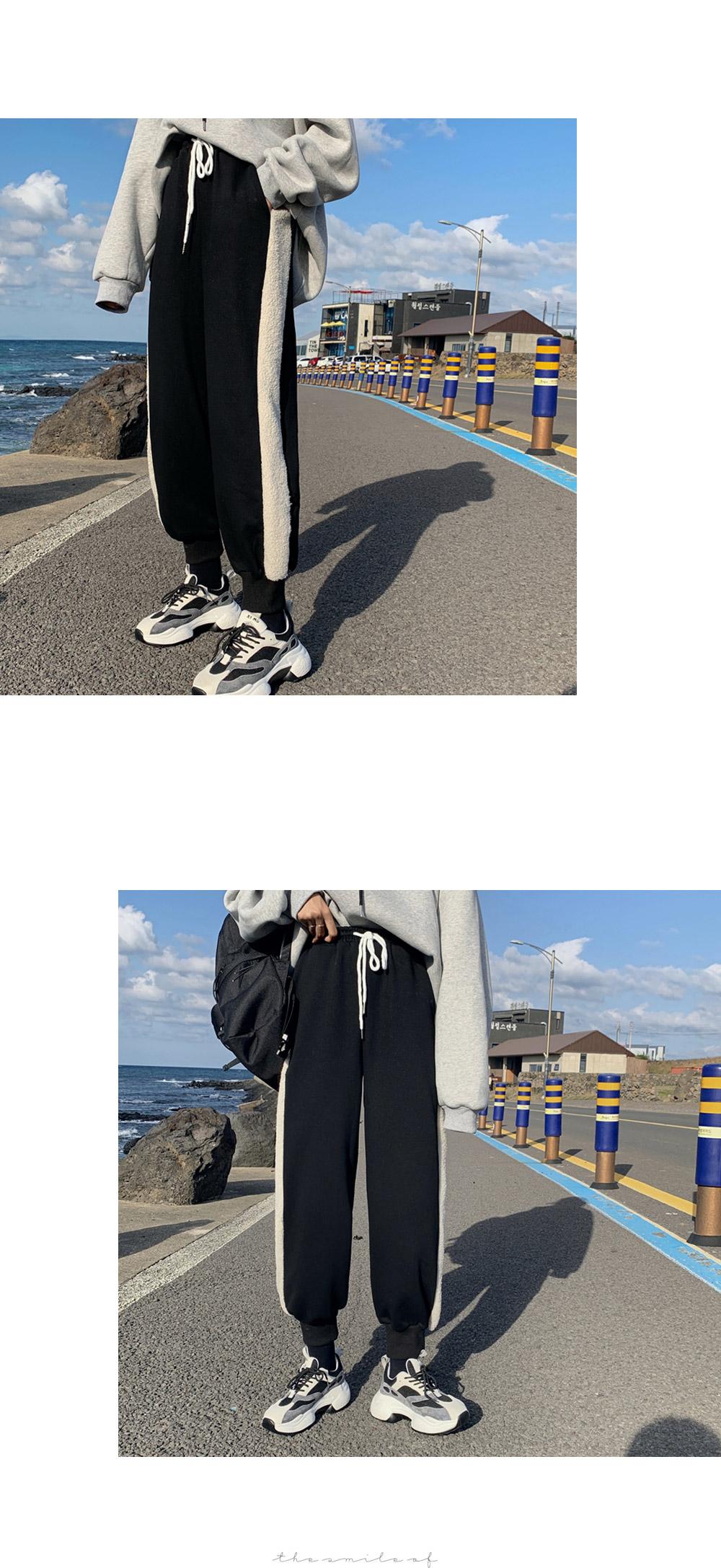 Nouvelle brushed dumble color jogger pants