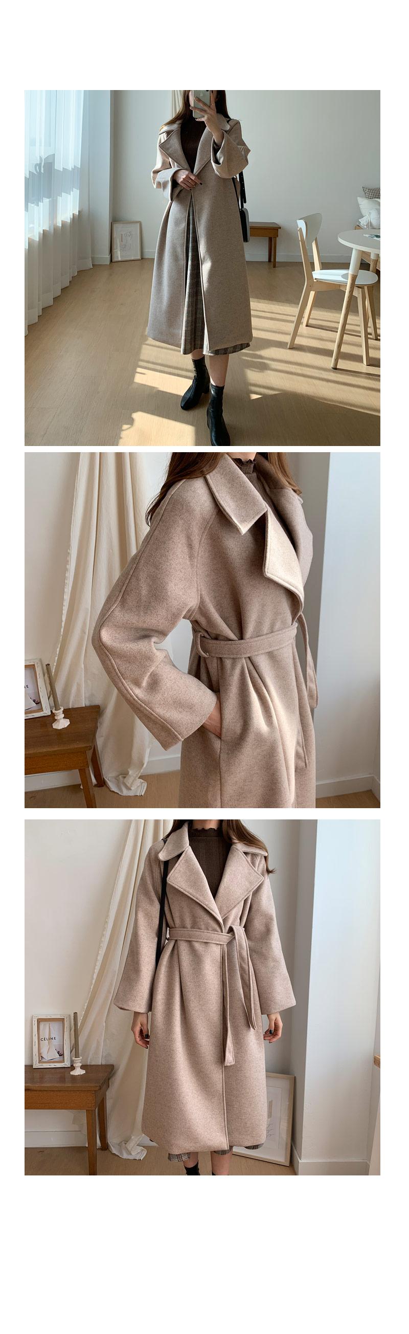 Palave strap boca wool coat
