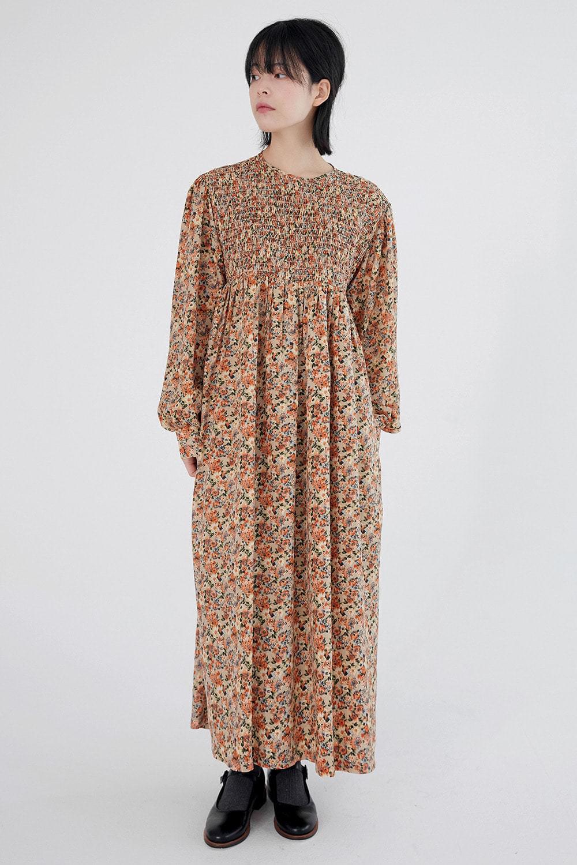 smokyflower maxi dress (2colors)