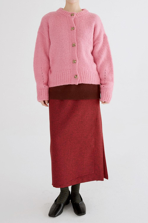 round midi cardigan (pink)