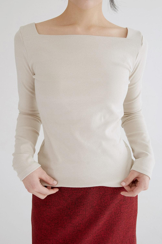 boat neck soft top (4colors)