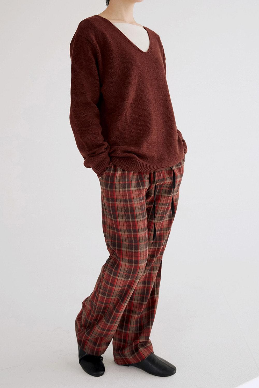 blend check cozy pants (2colors)