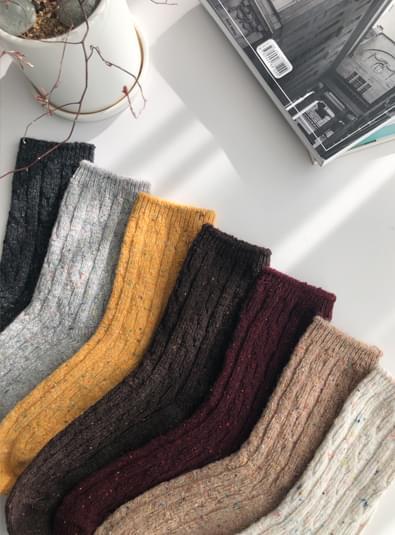 알보우 꽈배기 socks (*7color)