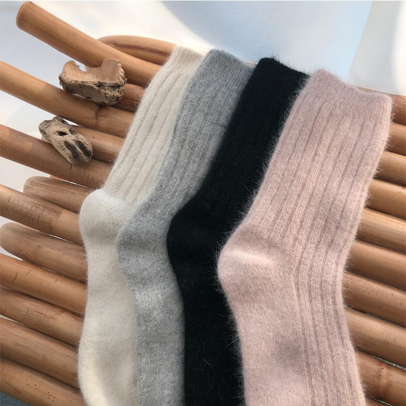 Biggol Angora Socks Gray