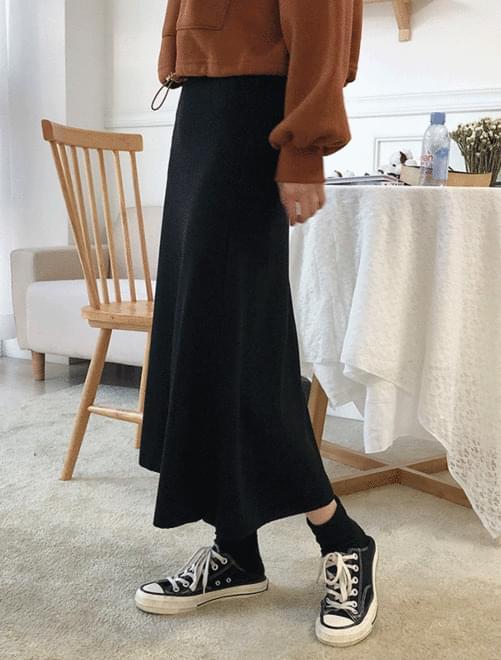 Freedom brushed banding skirt