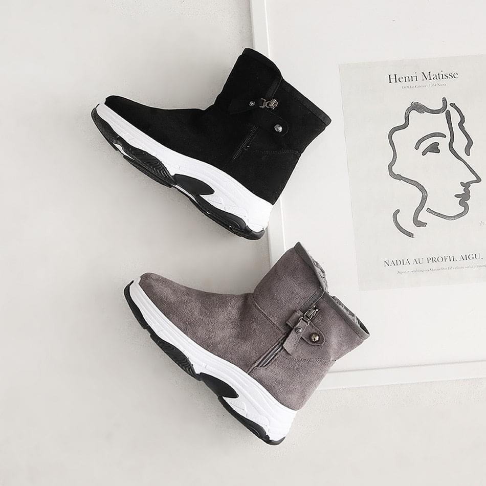 Katerun fur ankle boots 4cm