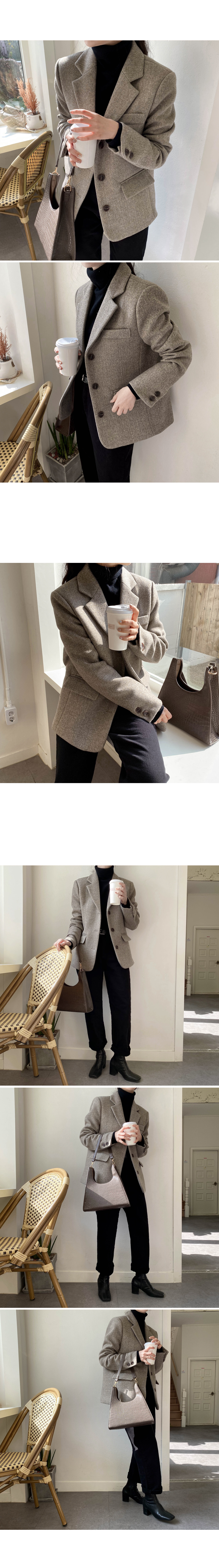 2n wool single jacket