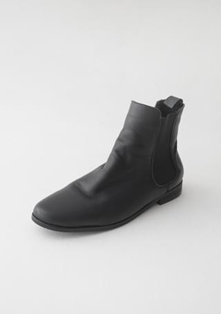 basic real leather chelsea boots (2colors)