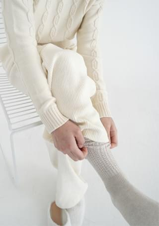 knitting knee high stocking (2colors)