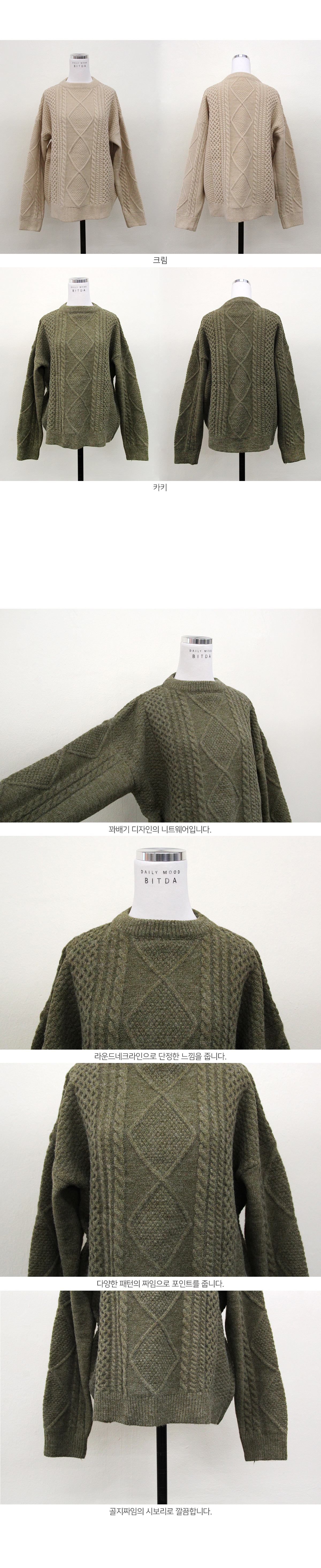 Cable round knit