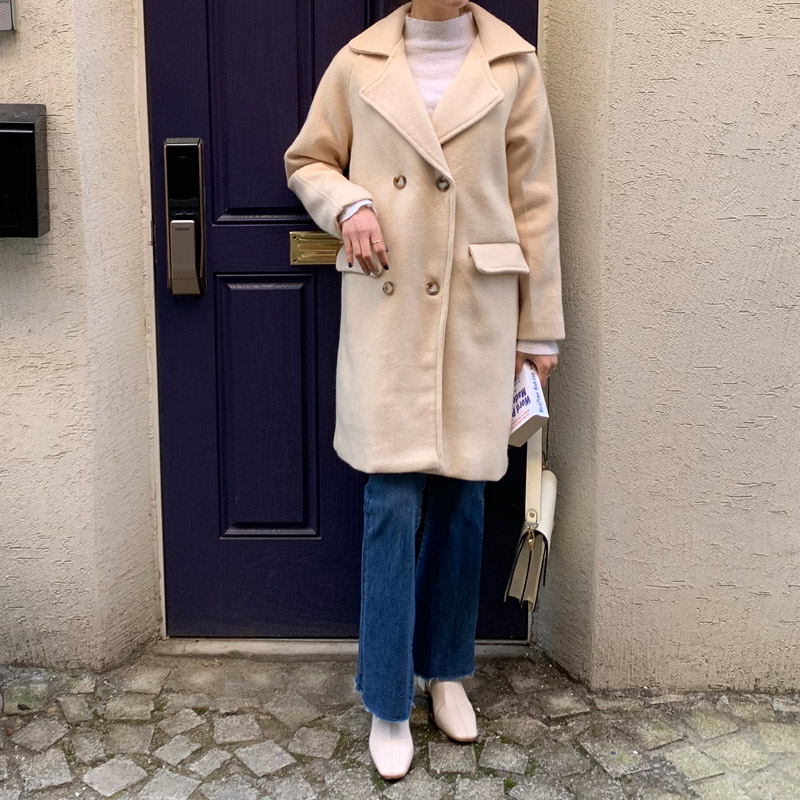Ranyu Backpoint Double Wool Coat