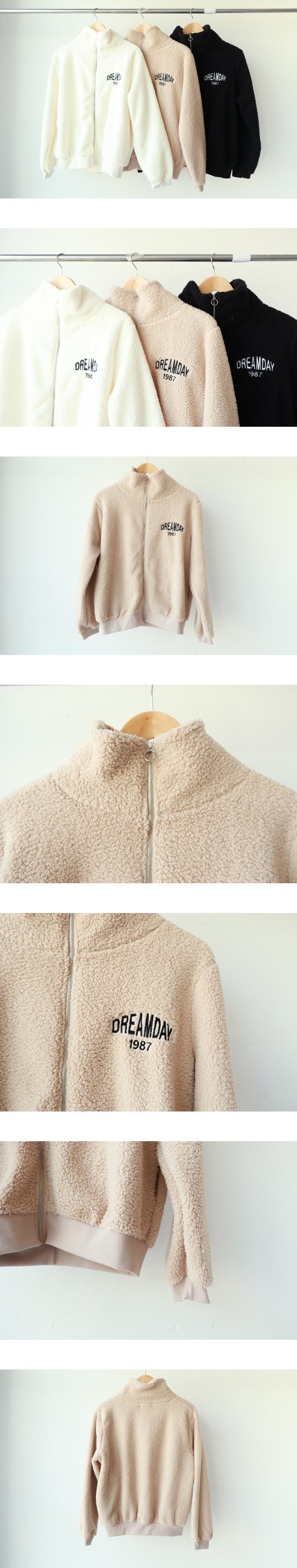 DREAM DAY fleece zip up