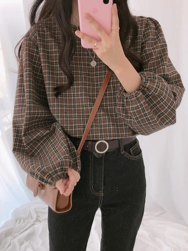Bender check blouse