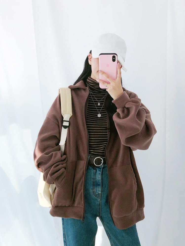 Kara Fleece Zip-Up Jumper