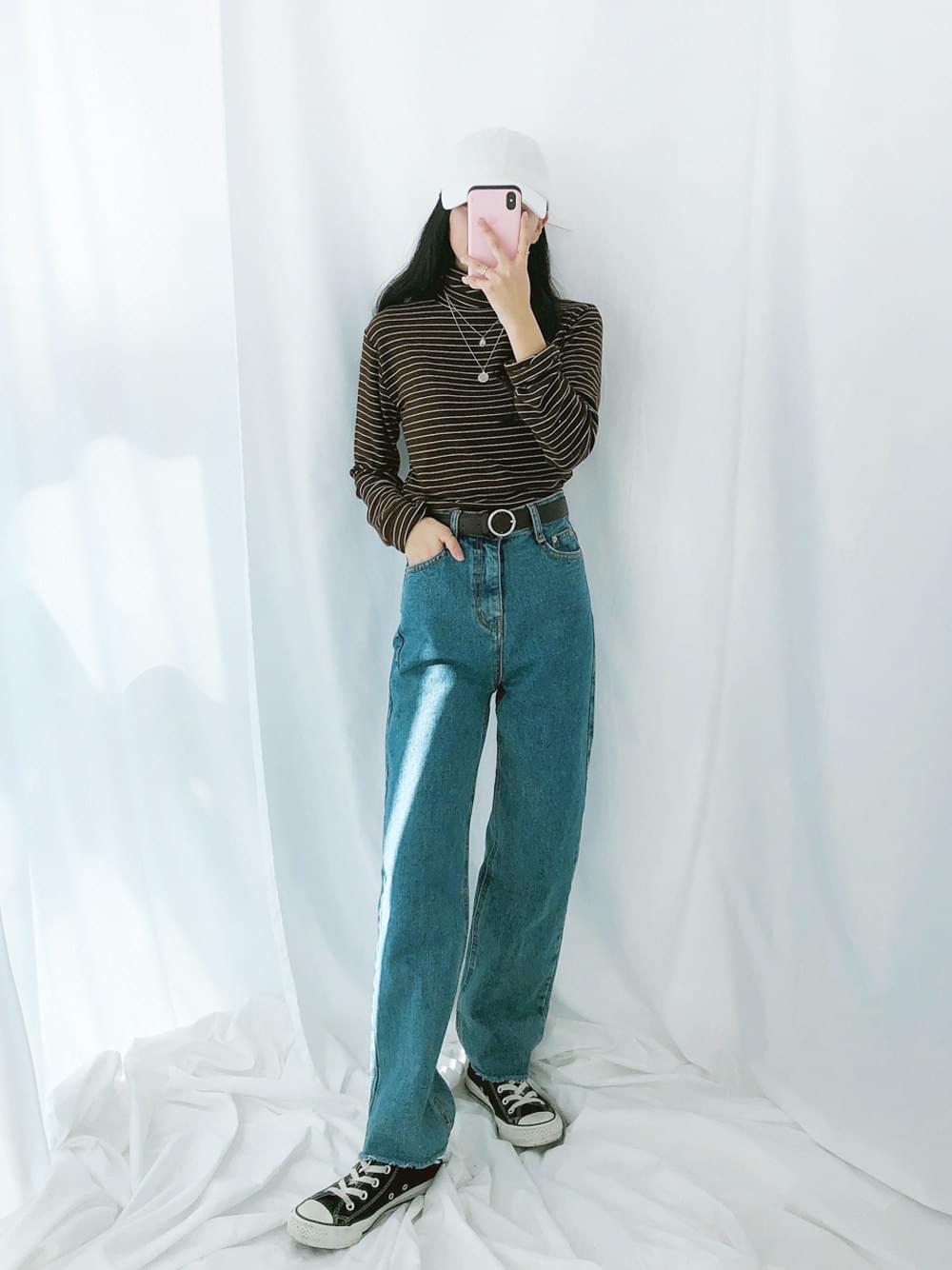 140-1 High Straight Fit Denim Pants