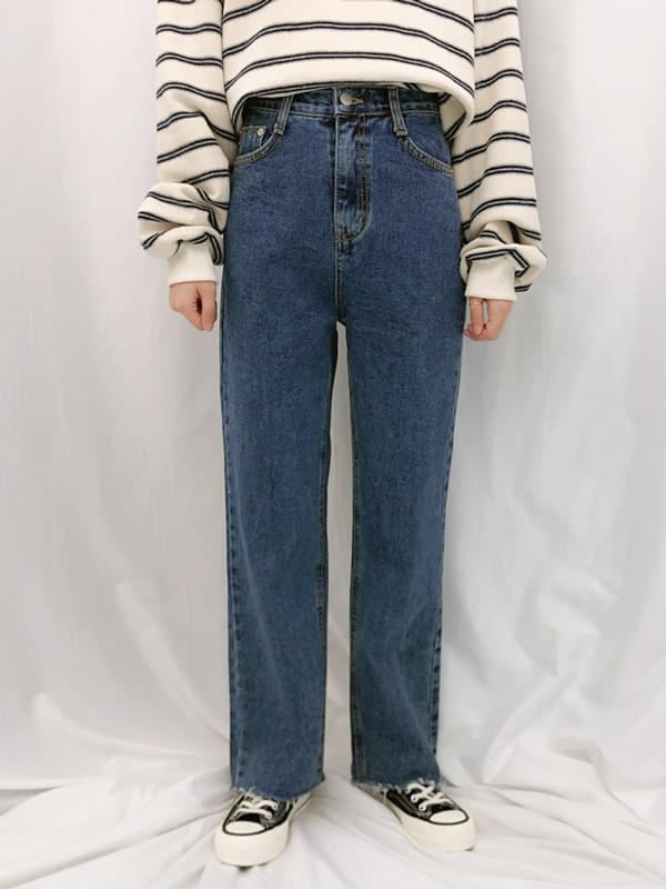 140 slim straight denim pants