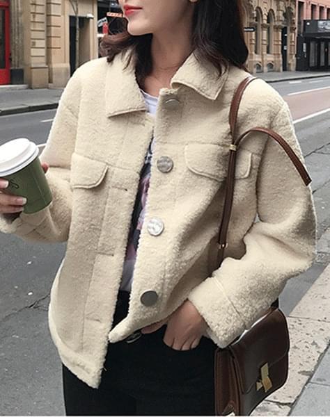 Mauve fleece coat