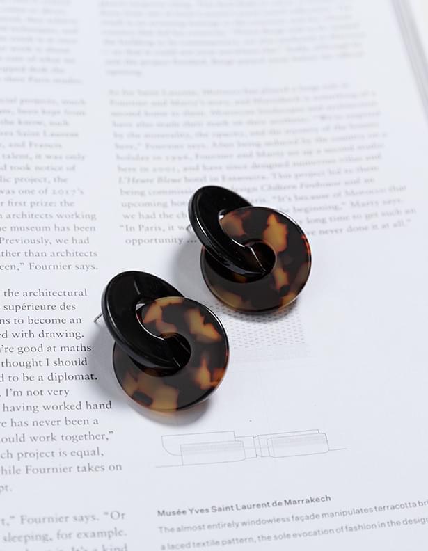 Lennon leopard earrings