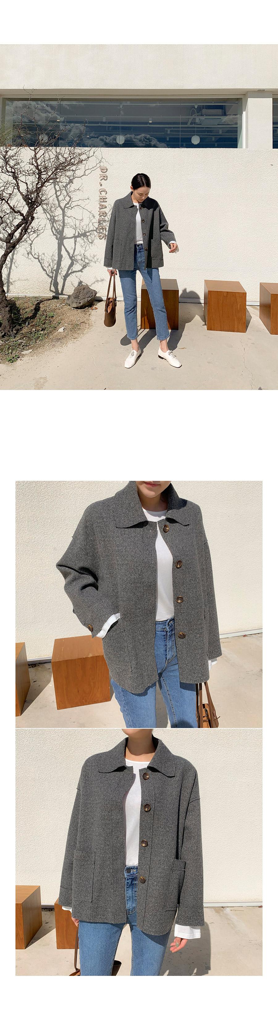 Wool pocket button jk