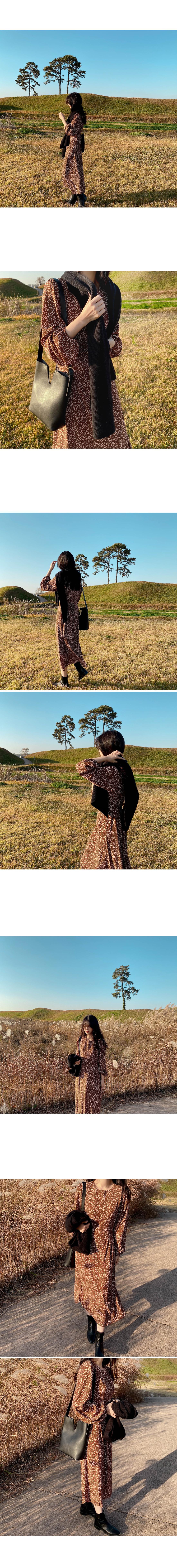 Mori flower long dress