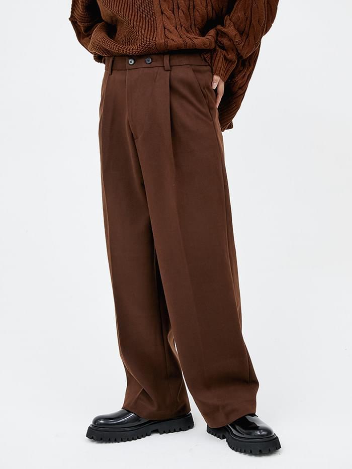 soft wool mini wrap slacks (3 color) - men