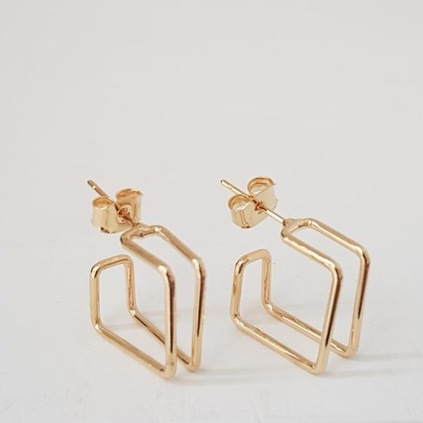 Pidu Square Ring Earrings