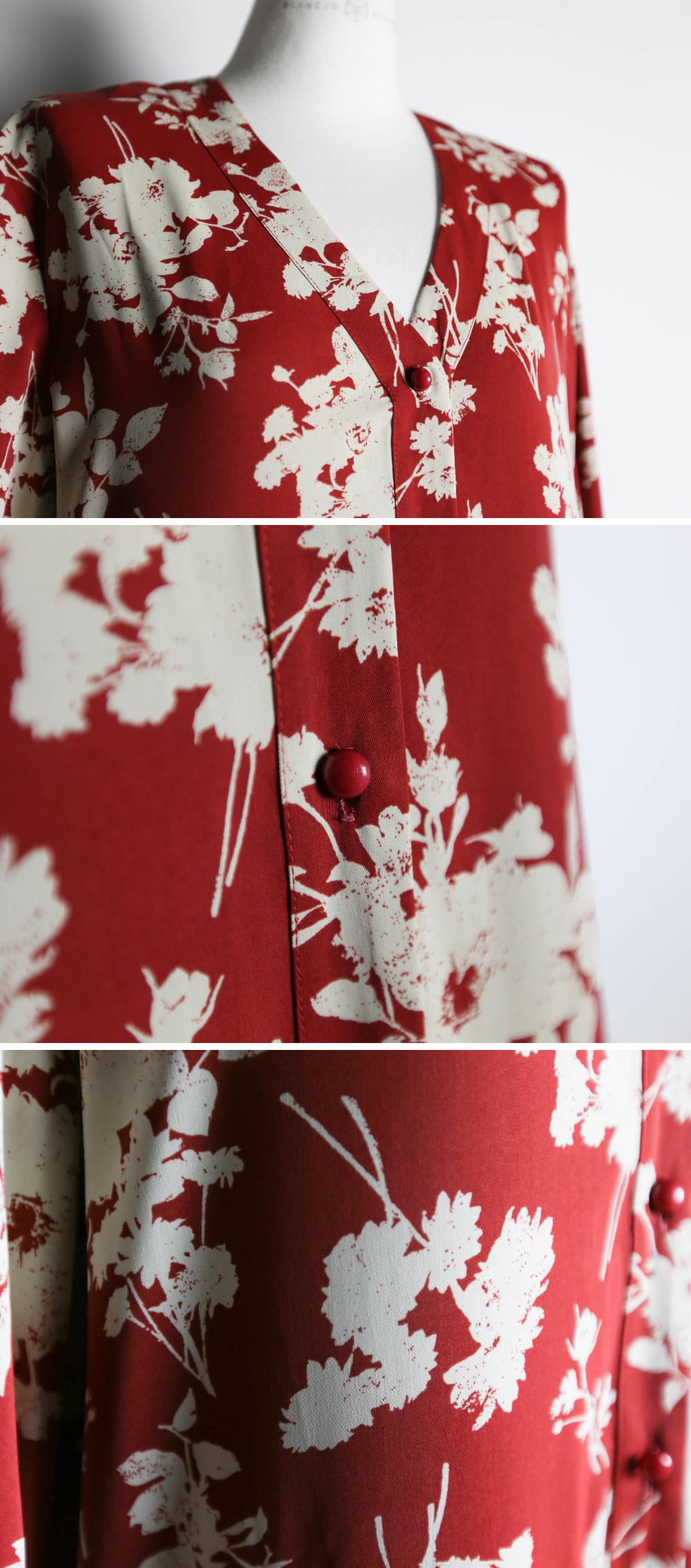 Color flower loose fit maxi dress_op03478