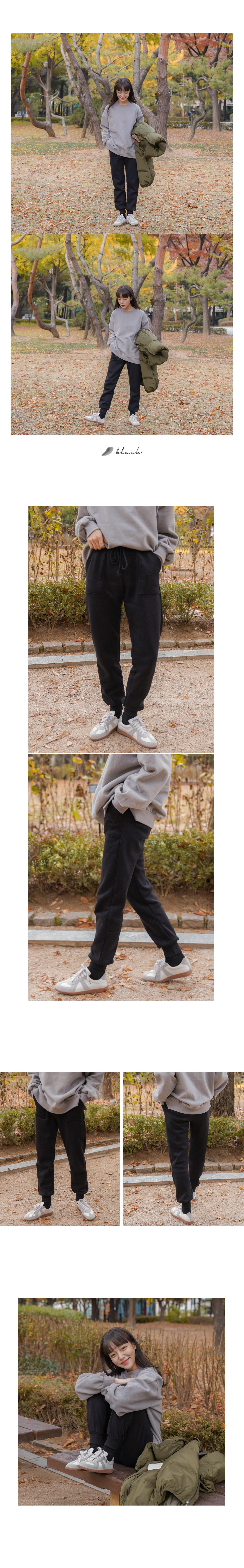 Pocket banded brushed jogger pants _H
