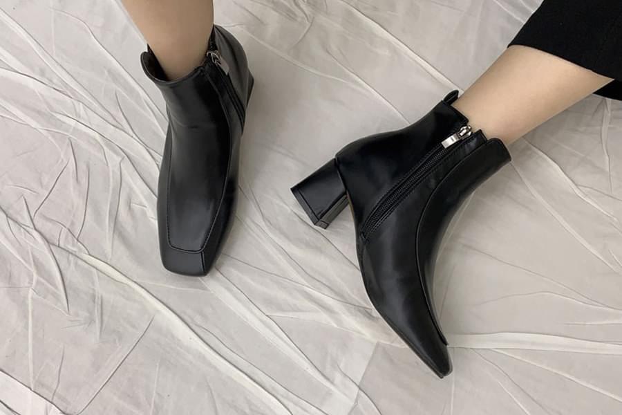 Zipper middle boots_ss03436