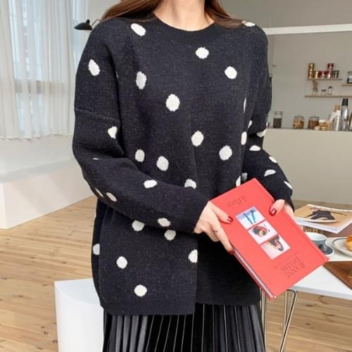 Shring Dot Overfit Knit