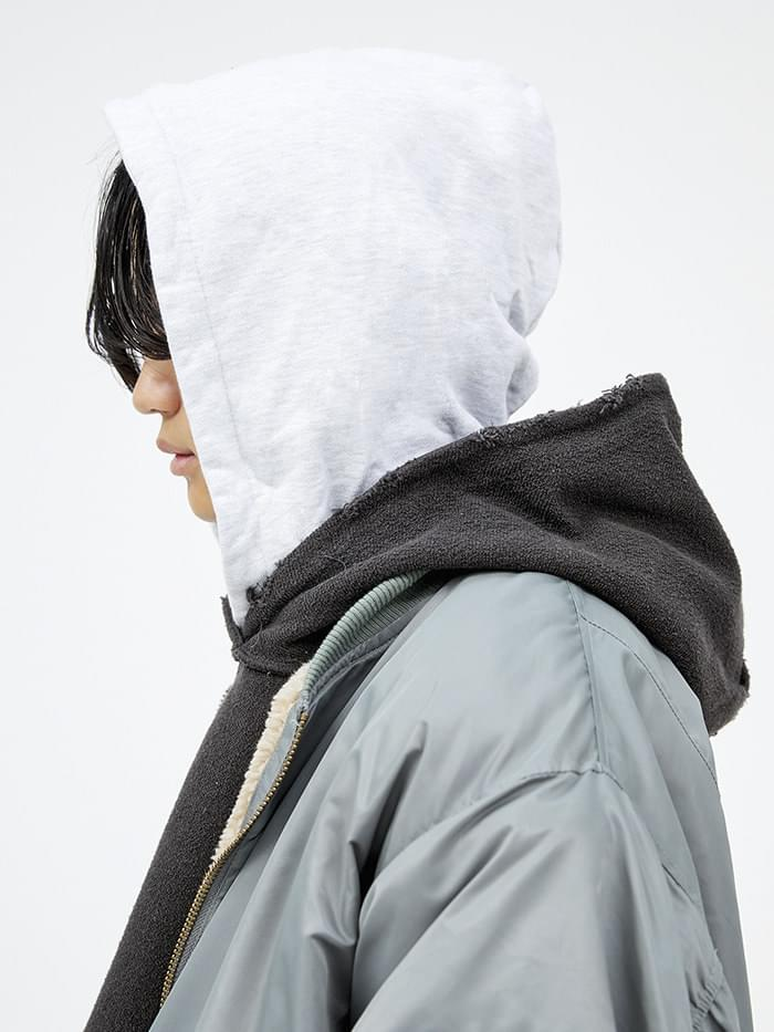 damage layered double hood (2 color) - men