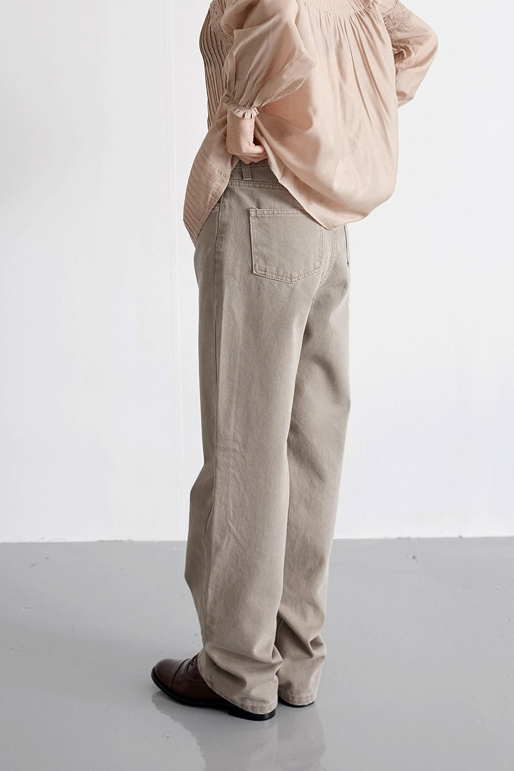 washed sand pants (2colors)