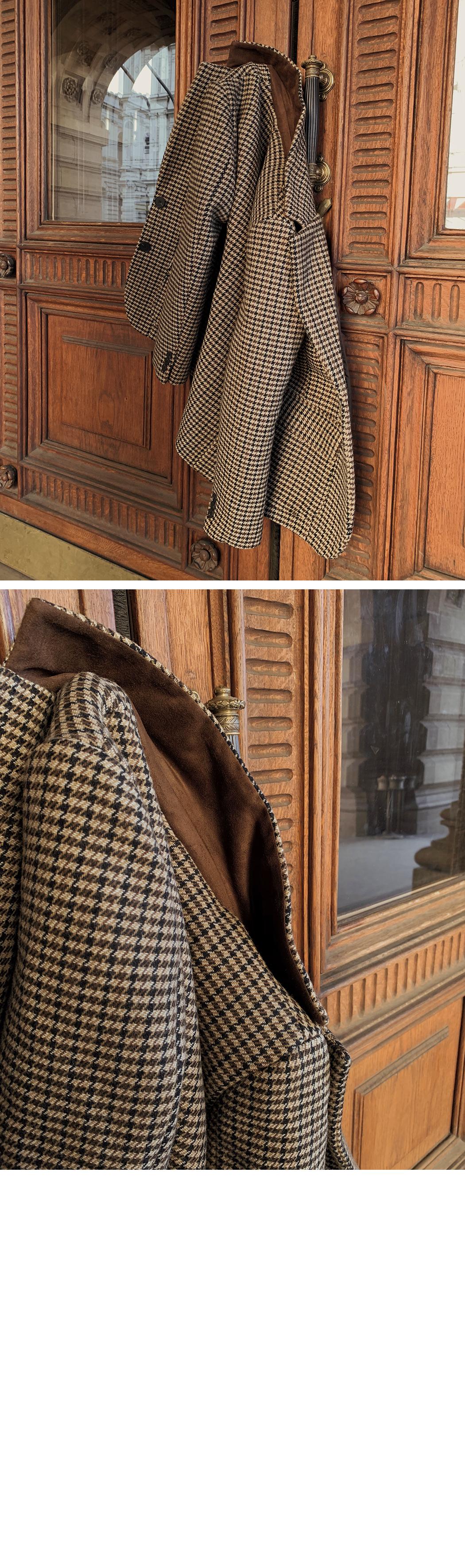 MMMM / tailoring check hunting wool jacket