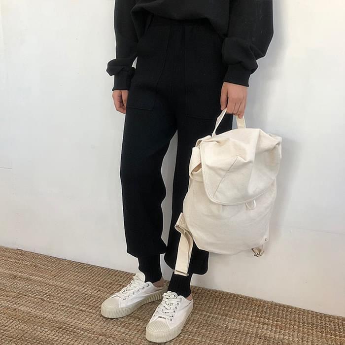 Banded knit jogger pants