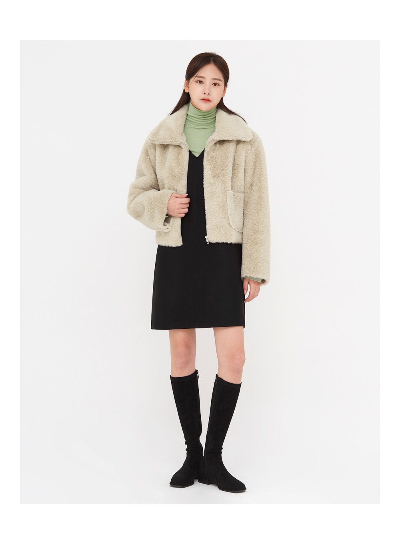 feeling fur short jacket