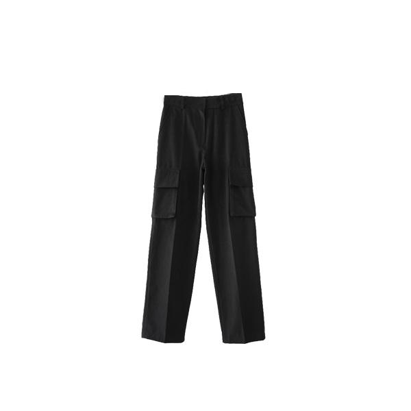 flap cargo cotton pants