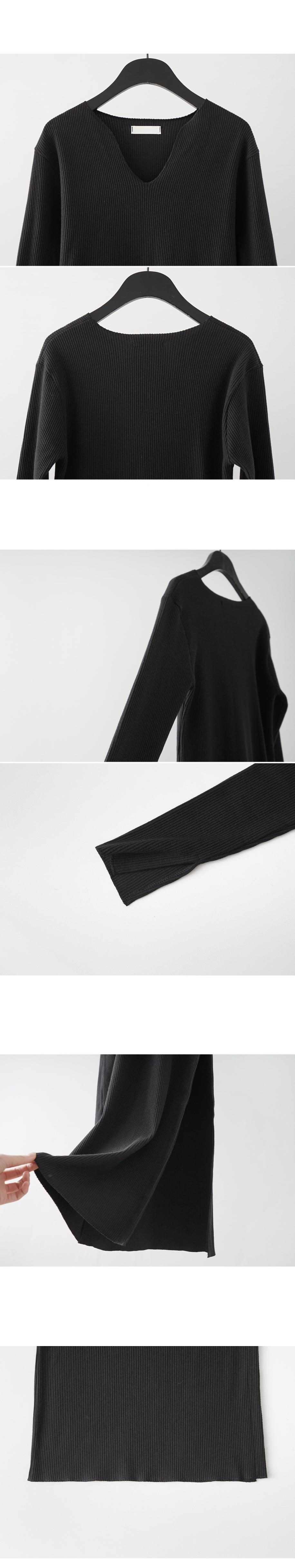 side slit long knit