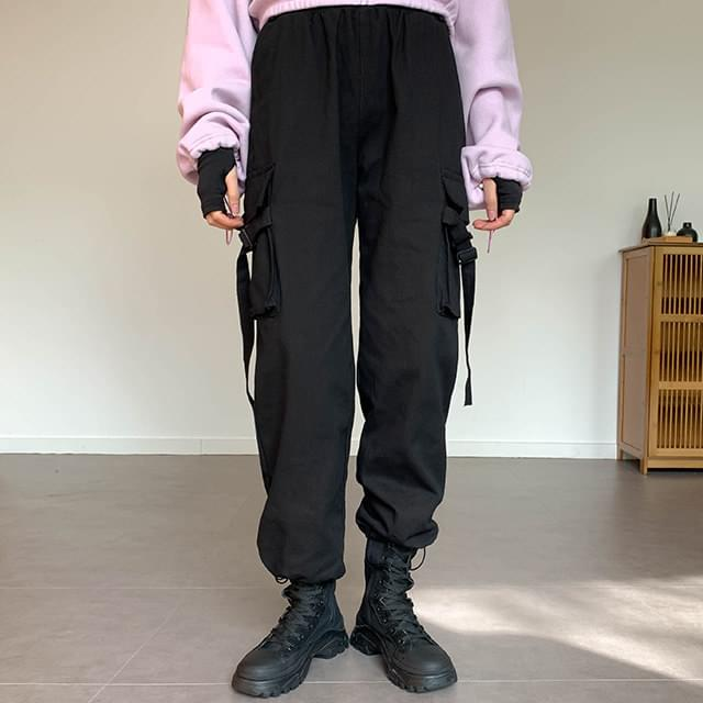 String rubber cargo pants