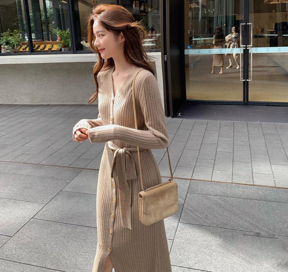 Madeleine strap knit dress