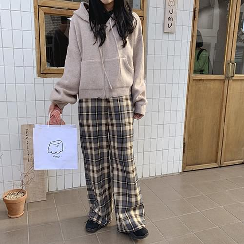 Cozy check pants