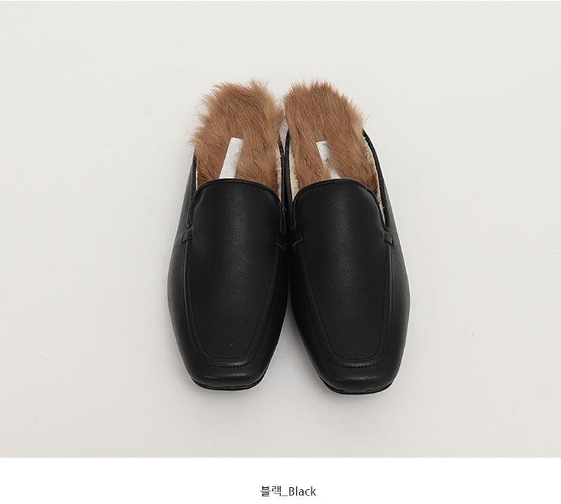 Cowhide warm fur bloafer_Y