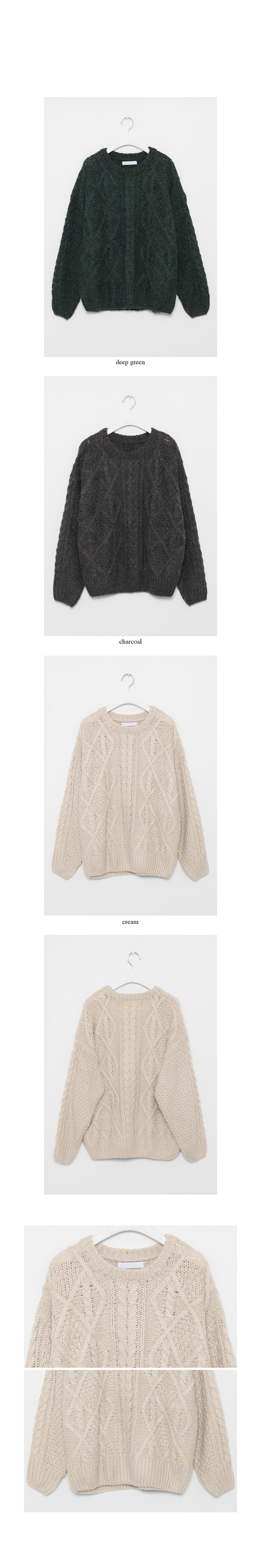 dia cable sweater