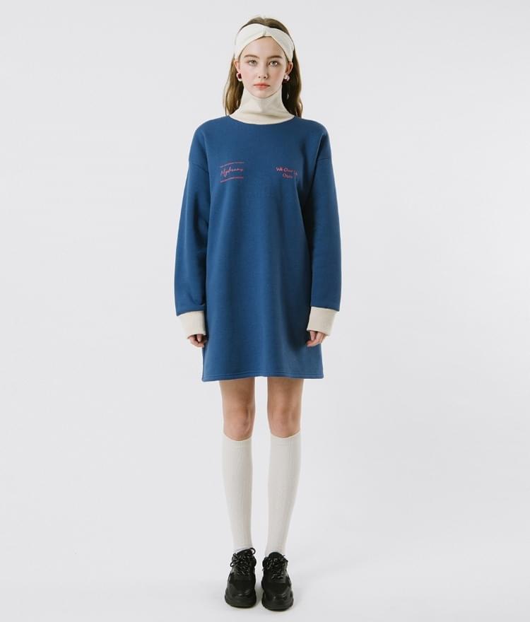 High Neck Belt Dress