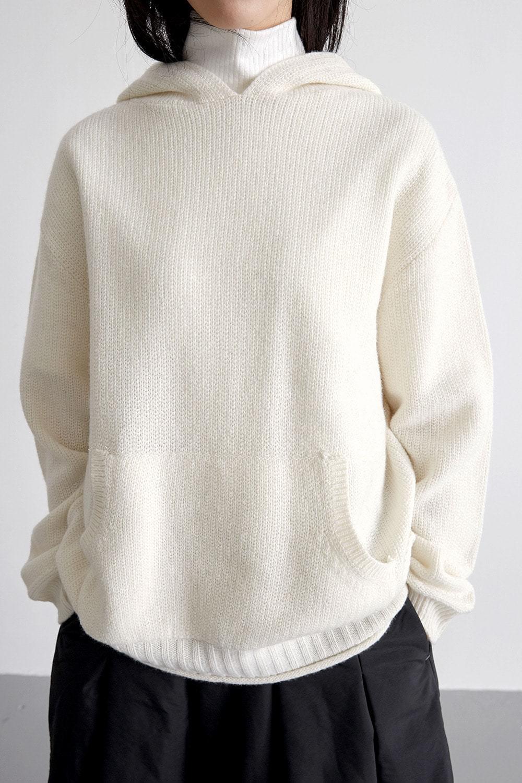 cutie hood knit (ivory)